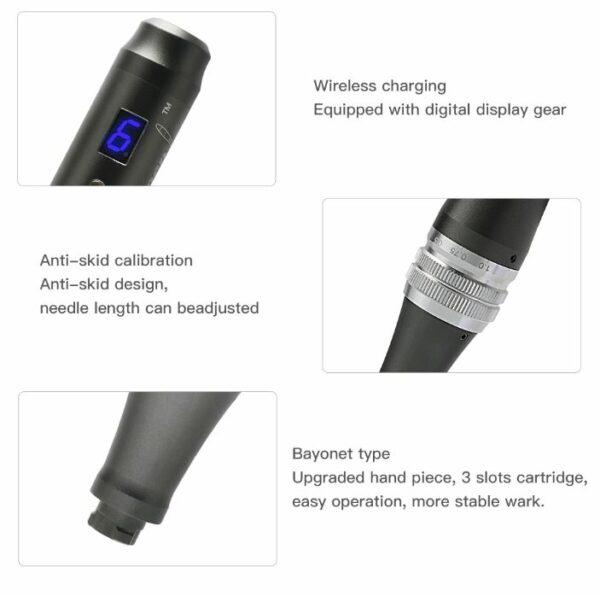 bezprzewodowy dr pen m8 z cyfrowym wyświetlaczem